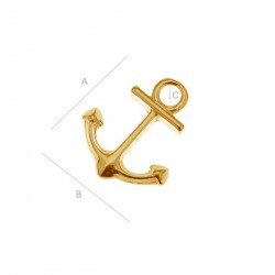 "Charm ""Anchor"" - 24K Gold plated over silver AG925 (x1)"